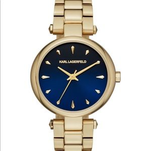 Karl Lagerfeld yellow goldtone stainless watch